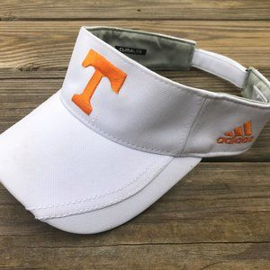 Adidas Climate Visor Hat White Uni of Tennessee